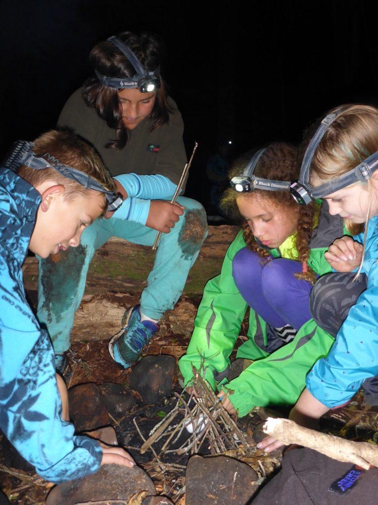 Karioi Rangers practicing map-reading. (Kristel van Houte)