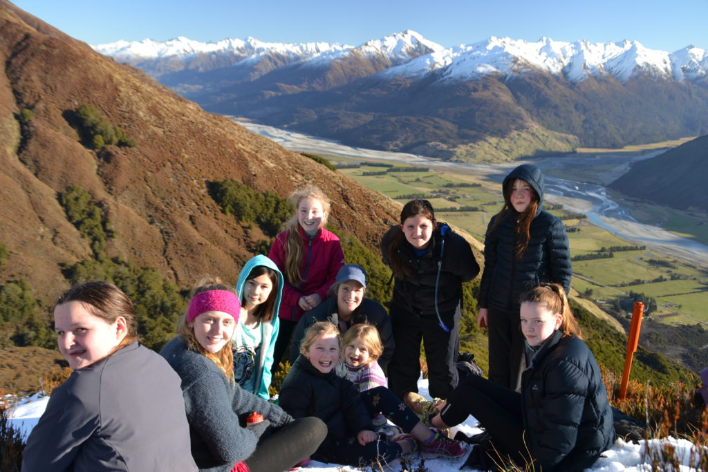 Campers in the snow, above bushline – Makarora Valley